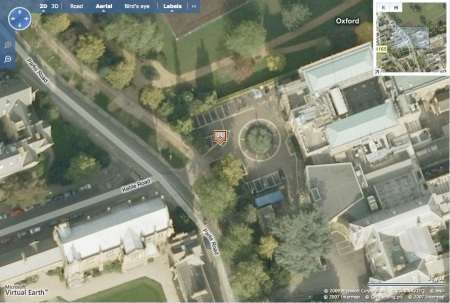 Microsoft Aerial Imagery for 51.75982, -1.25724