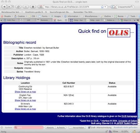 Screenshot of library demo